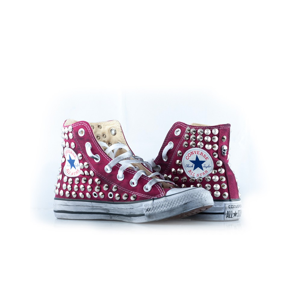 converse bordeaux borchie