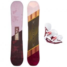 Snowboard SHINE LYT + NX FAY II burgundy - 2019 | 20