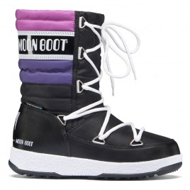 Snow boots MOON BOOT W.E. QUILTED JR WP - BLACK ORCHID PURPLE